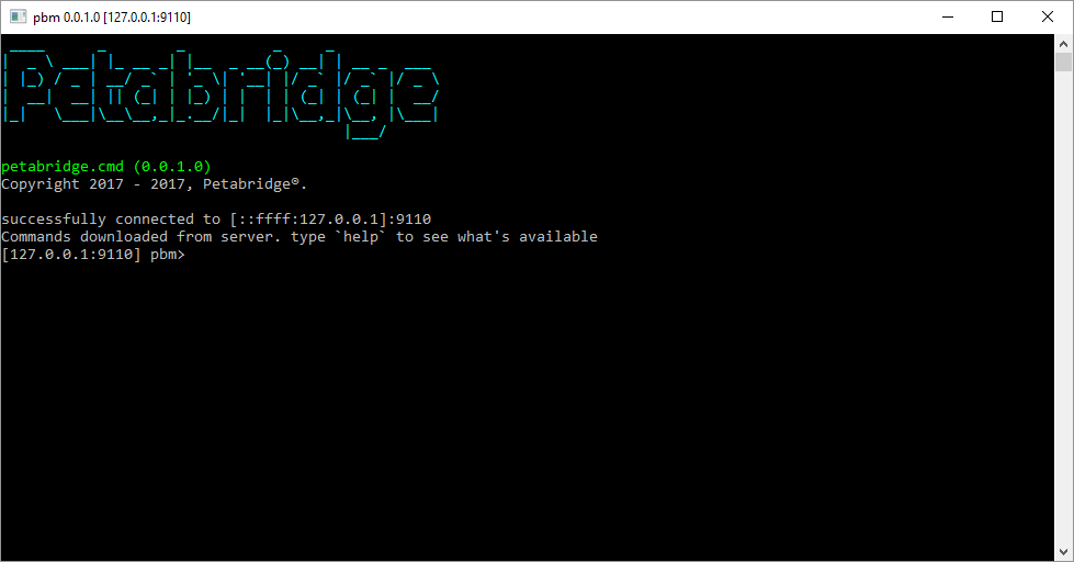 pbm successfully connecting to Petabridge.Cmd.Host